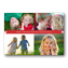 Four Photos with Red Banner Christmas Photo Cards